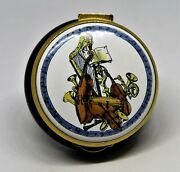 Staffordshire English Enamel Box - Music Is The Food Of Love - Shakespeare Quote
