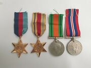 South African Ww2 Named Medal Group 4 X Medals M005