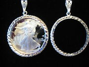 Walking Liberty One Ounce Coin Holder And Pendant Sterling Silver