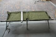 Us Military Army Surplus Camping Cot Heavy Duty Frame Sleeping Folding Used Real