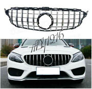 For W205 Front Gtr Grill For Mercedes Benz W205 C180 C200 C250 C300 C43 2015+