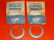 Nos 1948-1956 Ford Big Truck Pair Front Wheel Hub Grease Retainers A8tz-1190-a