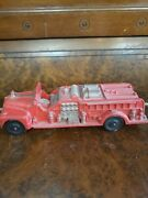 1950's Harvester Auburn Rubber Fire Truck Made In The Usa