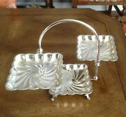 F.b. Rogers Silver Co. 1883 Footed 3 Tier Dessert Stand Adjustable.