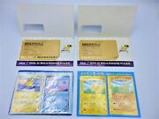 Pokemon Card File And Gold Boarding Pass Ana Promotion Assorted Set Japan Limited