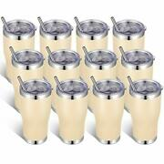 20oz Stainless Steel Tumblers Bulk Tumbler Cup With Lid And Straw 12 Beige