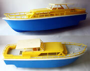 Rare Vintage 70and039s Greek Plastic Yacht Cruise Ship Made In Greece 43cm/17 New