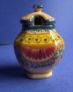 Henriot Quimper Ivoire Corbeille Mustard Holder French Faience