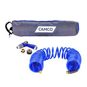 Camco 40and39 Coiled Hose Andamp Spray Nozzle Kit 41982