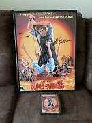 Invasion Of The Blood Farmers Patch And Signedandldquoed Adlumandrdquo Poster See Description