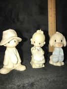 Mom And Dad Precious Moments Ornaments Set Of 3 1983 And 1982 Fish Symbol Used