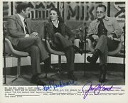 George C. Scott And Trish Van Devere Signed Photograph On The Mike Douglas Show