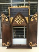 19th Century Carved Wood Shrine Tabernacle Frame