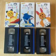 Baby Einstein 3 Vhs Tapes Mozart Bach Van Gogh Music Art Colors Tested Vtg Rare