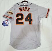 San Francisco Giants Willie Mays Authentic 48 Xl Holo Signed 660 Hr Jersey