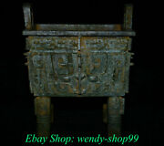 13 Rare Antique Chinese Bronze Ware Dynasty Beast Face Incense Burners Ding
