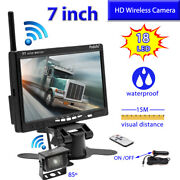 Wireless Vehicle Rear View 7 Monitor+back Up Camera For Truck Rv Trailer Camper