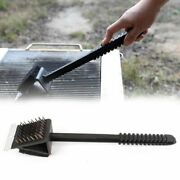 Brush Bbq Wire Copper Cleaning Grill Handle Long Cleaner Barbecue Tools 3-in-1