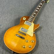 1959 Style Lp Electric Guitar Flamed Maple Top Grover Tuner Yellow Back