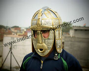 Medieval Armor Anglo Saxon Sutton Hoo Helmet For Reenactment And Sca