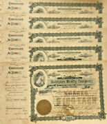 Southern Realty Company Set 5 1905 Mobile Alabama Real Estate Stock Certificates