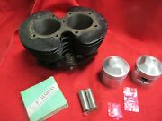 Triumph 650cc Cylinder New Bore +.020 Pistons Rings Pins Clips 1969 040721
