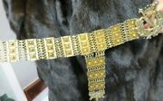 Heavy Antique Vermeil Ottoman Turkish Pasha Generaland039s Belt 37-3/4l 1-1/2 W