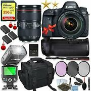 Canon Eos 6d Mark Ii Dslr Camera 24-105mm Lens Kit + Holiday Special Bundle
