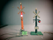 American Flyer Lot Of 2 Incomplete Crossing Signals.