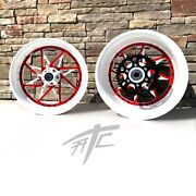 Gsxr Stock Size White And Red Switchback Wheels 01-05 Suzuki Gsxr 600 750
