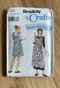 Simplicity 5201 Daisy Kingdom Apron In 2 Lengths Smock Misses Size S Xl Pattern
