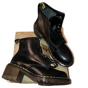 Dr Martens Doc Clemency Heeled Boots Black Leather Made England Uk 5 Women Us 7