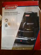 New Open Box Coleman Camping Coffee Maker Black 10 Cup Survival