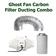 Carbon Filter Ghost Fan Ducting 10 250mm Combo For Hydroponics Grow Tent Room