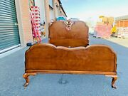 Beautiful Antique Berkey And Gay Furniture Cherry Full Size Carved Bed Frame