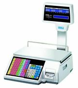 Cas Cl5500r-60w Label Printing Scale With Pole Display And Wireless Card New