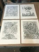 Juliana Seraphim Limited Edition Etchings Hand Signed And Numbered Art Print Set