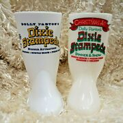 Dixie Stampede Christmas Dolly Partonandrsquos And Pepsi-cola 2010 Boot Mug Lot/2
