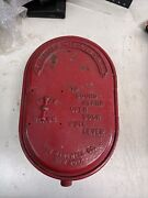 Rare Early Antique Oval Fire Alarm Telegraph Station Game Well Heavy Cast Nice