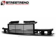 For 98-04 Chevy S10 Blazer/pickup Matte Blk Horizontal Front Bumper Grill Grille