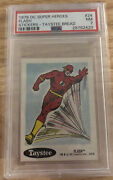 1978 Dc Super Heroes Stickers - Taystee Bread 24 Flash Psa 7 Nm Dc / Marvel