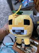 Minecraft Moobloom Plush Yellow Cow Buttercup Flower Pillow Buddy Toy