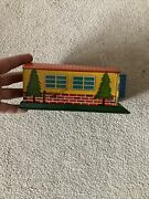 60's Vintage Rare Alps Trademark Wind Up Fire Dept Tin Garage Toy Made In Japan