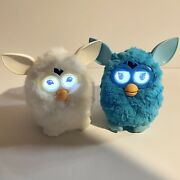 Rare Hasbro Furby Boom Yeti And Voodoo Blue White Talking Toy 2012 Tested 1st Gen