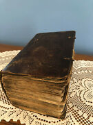 Antique 1683 Leather Bound Martin Luther German Bible Christianity Religion