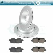 Rear Ceramic Brake Pads And Rotors For 2010-2012 Land Rover Lr4 Slot Drill
