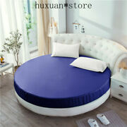 Imitated Silk Fitted Sheet Round Sheet Cover Circle Elastic Bed Cover 220220cm