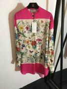 Luxury Spring Hot Sale Sexy Womens Silk Long Sleeves Floral Print Shirt Dresses