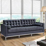 Genuine Leather Couches Sofa Armchair Club Chair Black For Waiting Living Room