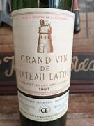 Chateau Latour 1967 Empty Wine Bottle 750ml Vintage Maid In France Used